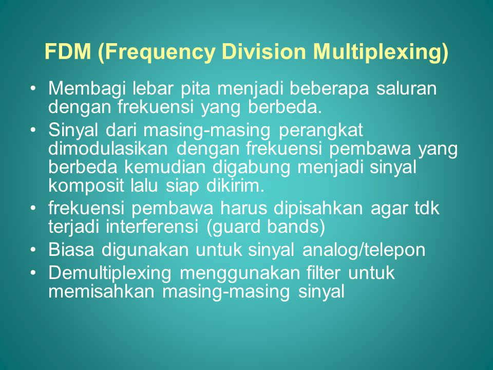 FDM (Frequency Division Multiplexing)