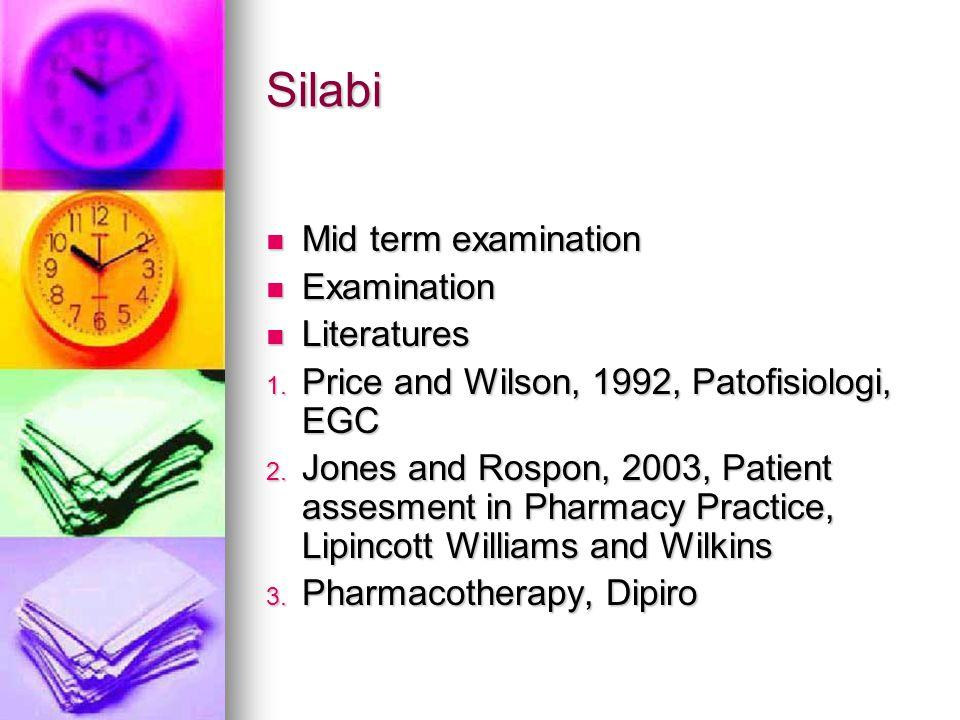 Silabi Mid term examination Examination Literatures
