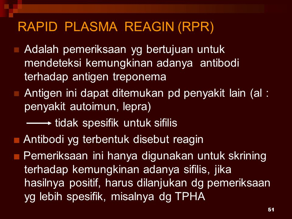 RAPID PLASMA REAGIN (RPR)