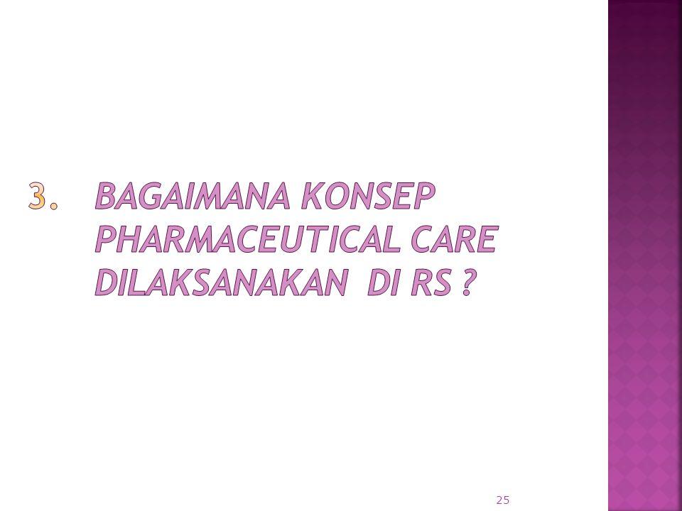 3. Bagaimana konsep Pharmaceutical Care dilaksanakan di RS
