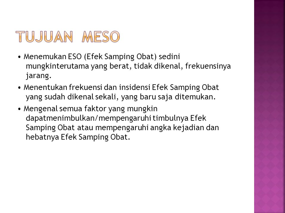 Tujuan MESO