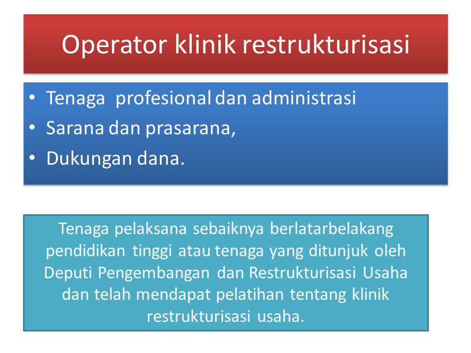Operator klinik restrukturisasi