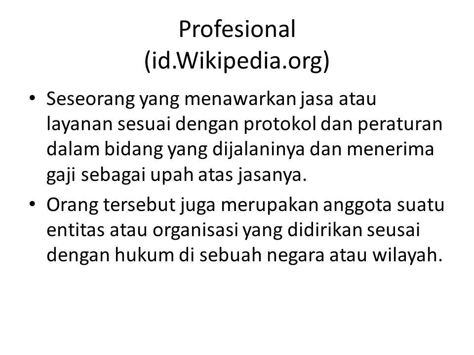 Profesional (id.Wikipedia.org)