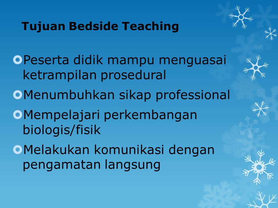 Tujuan Bedside Teaching