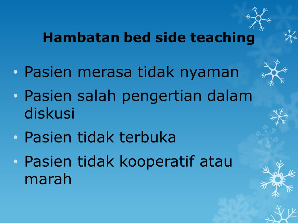 Hambatan bed side teaching