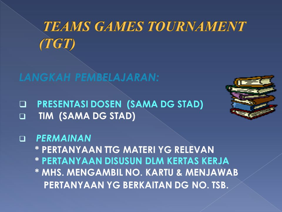 TEAMS GAMES TOURNAMENT (TGT)