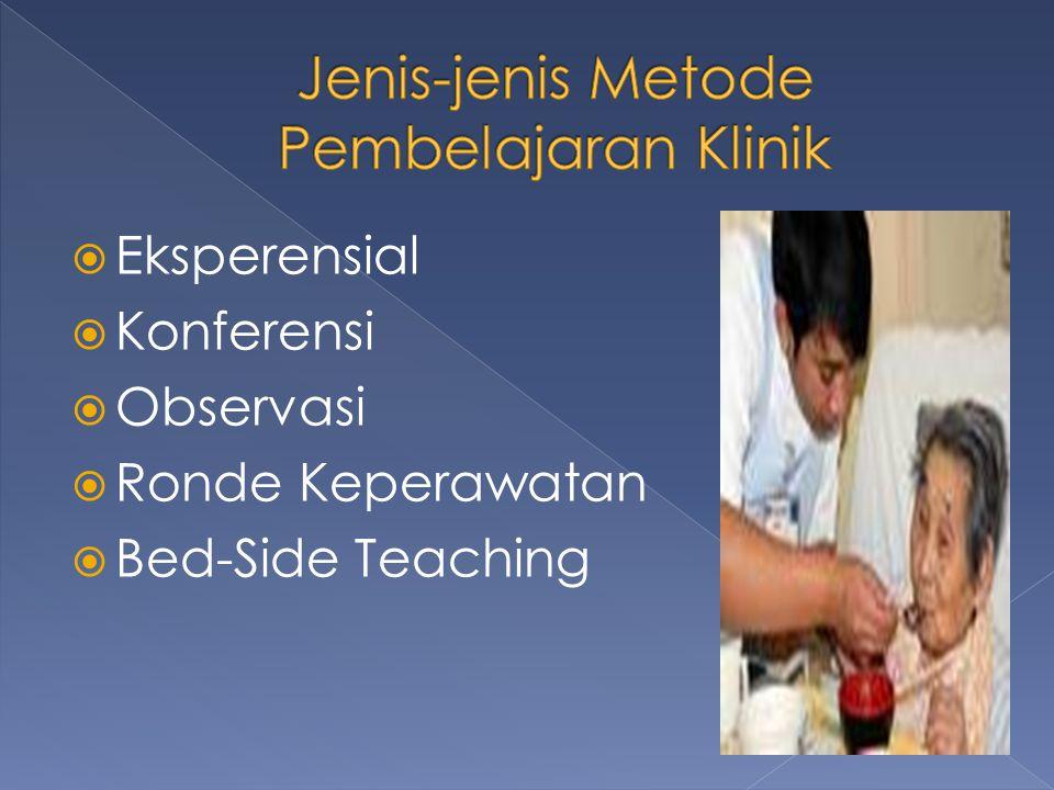 Jenis-jenis Metode Pembelajaran Klinik
