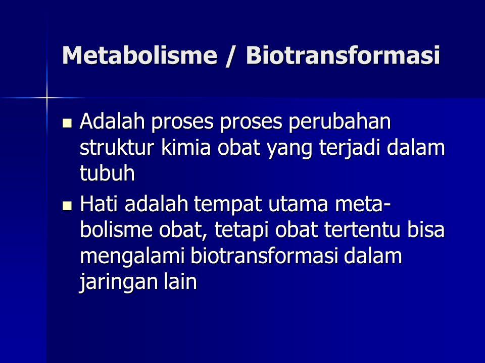 Metabolisme / Biotransformasi