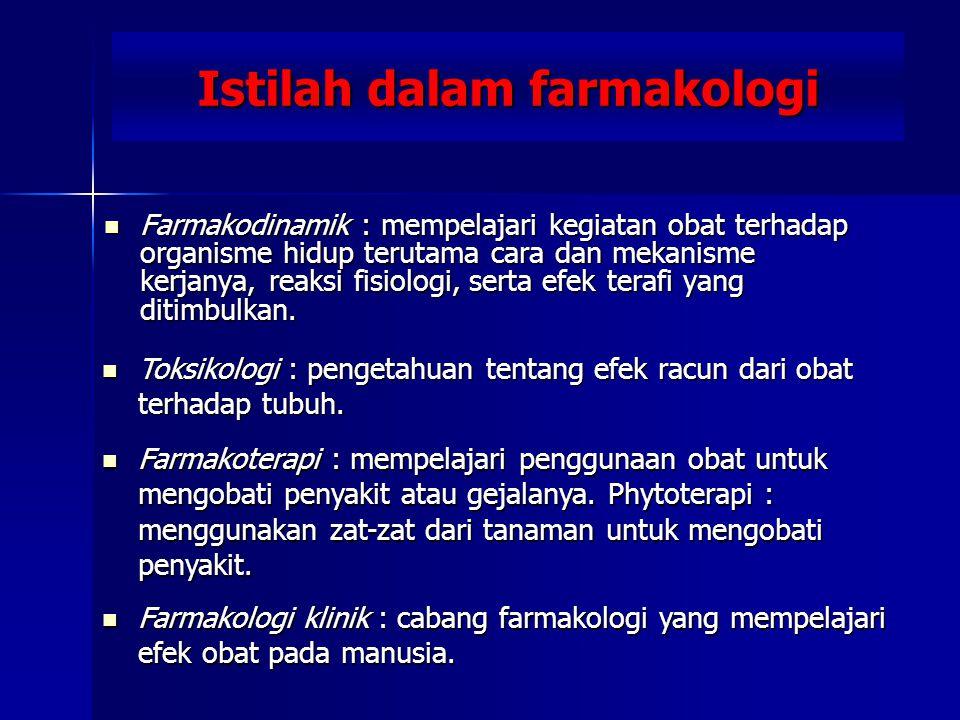 Istilah dalam farmakologi