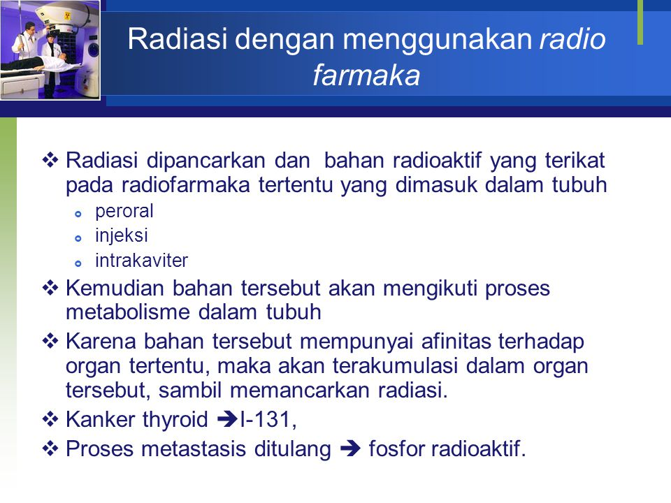 Radiasi dengan menggunakan radio farmaka