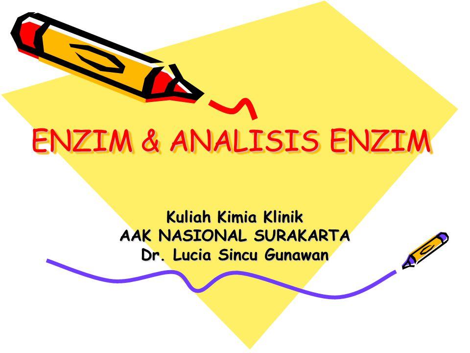 Kuliah Kimia Klinik AAK NASIONAL SURAKARTA Dr. Lucia Sincu Gunawan