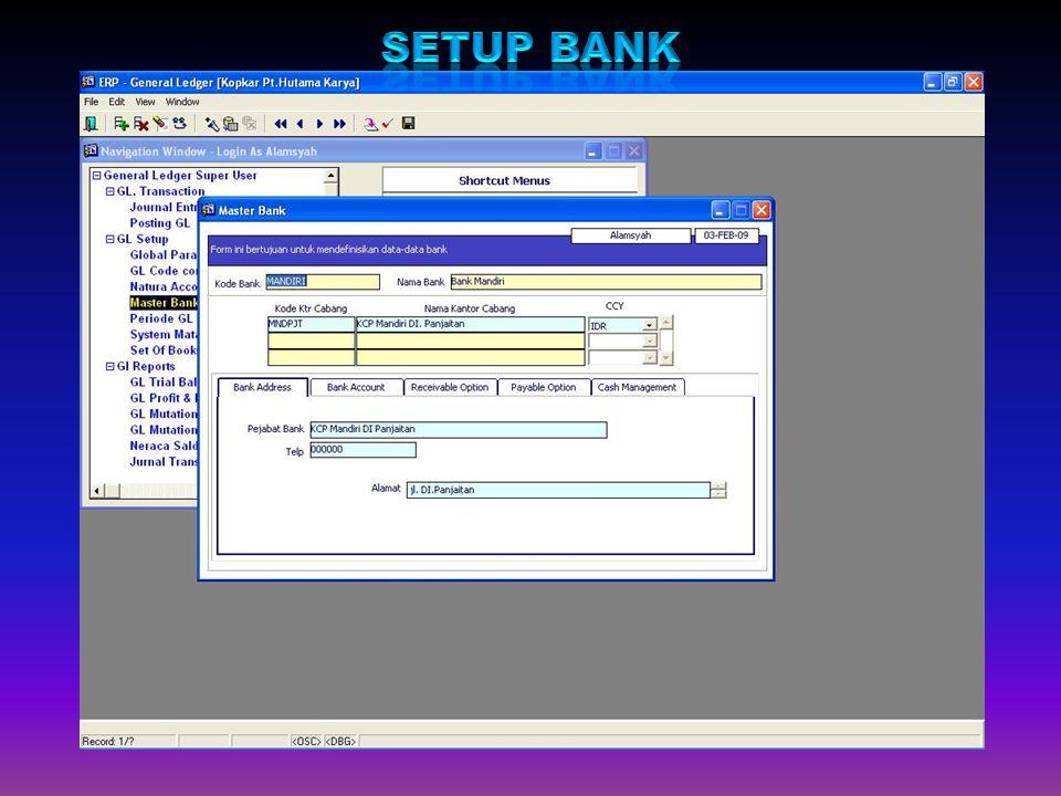 Setup Bank