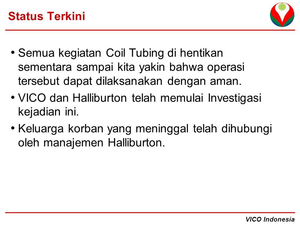 Status Terkini Semua kegiatan Coil Tubing di hentikan sementara sampai kita yakin bahwa operasi tersebut dapat dilaksanakan dengan aman.