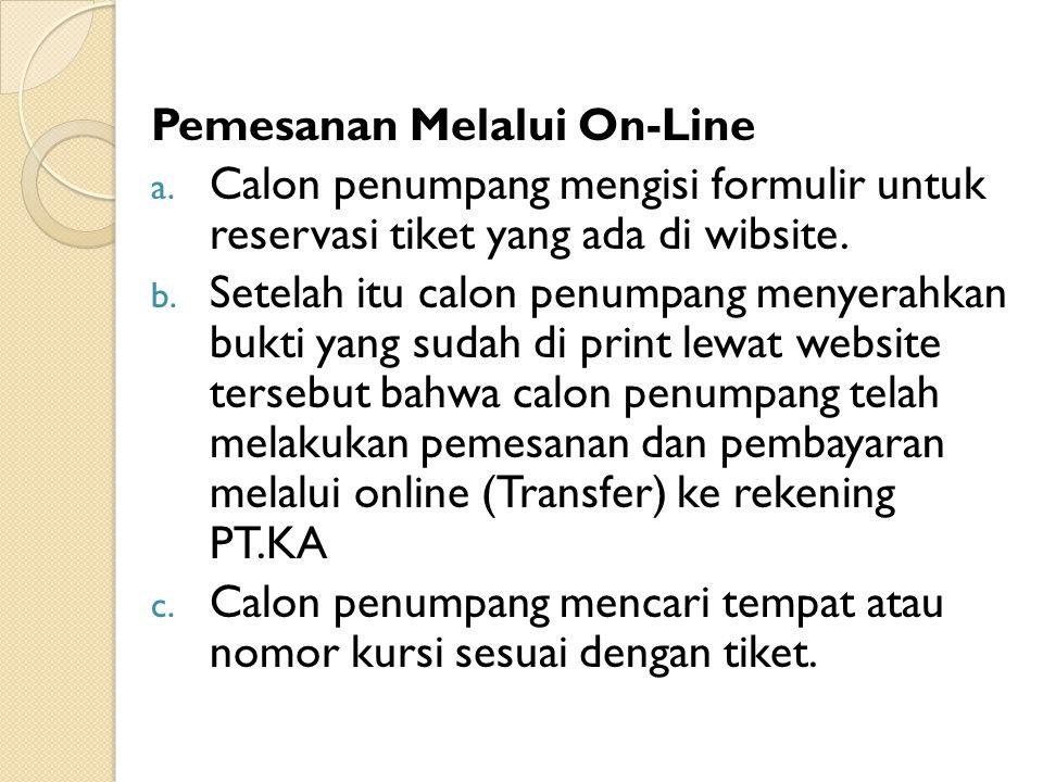 Pemesanan Melalui On-Line