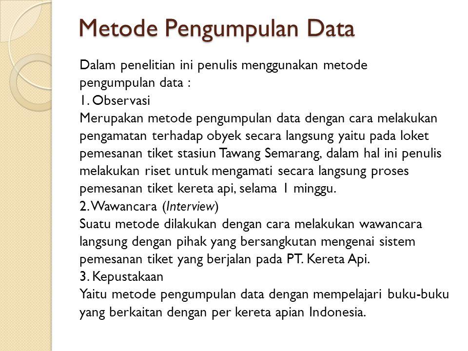 Metode Pengumpulan Data