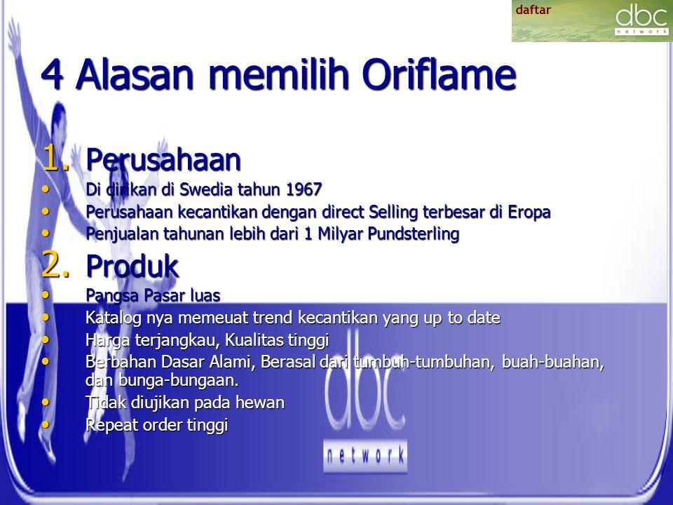 4 Alasan memilih Oriflame