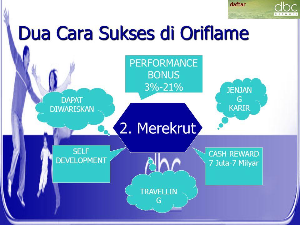 Dua Cara Sukses di Oriflame