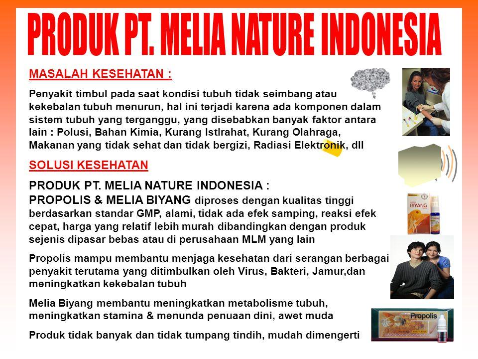PRODUK PT. MELIA NATURE INDONESIA