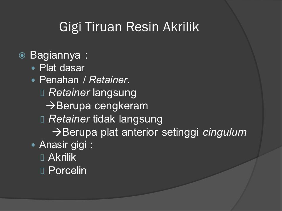 Gigi Tiruan Resin Akrilik