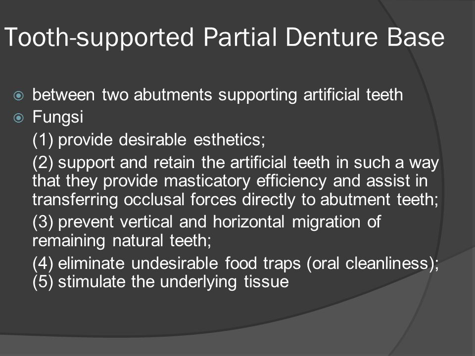Tooth-supported Partial Denture Base