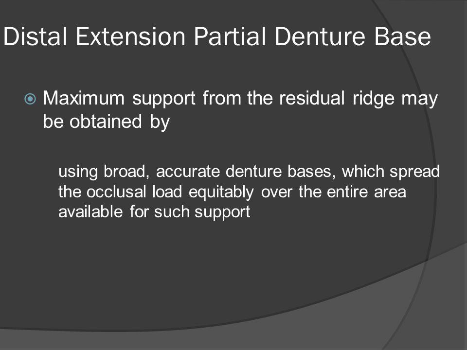 Distal Extension Partial Denture Base