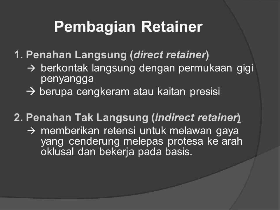 Pembagian Retainer 1. Penahan Langsung (direct retainer)