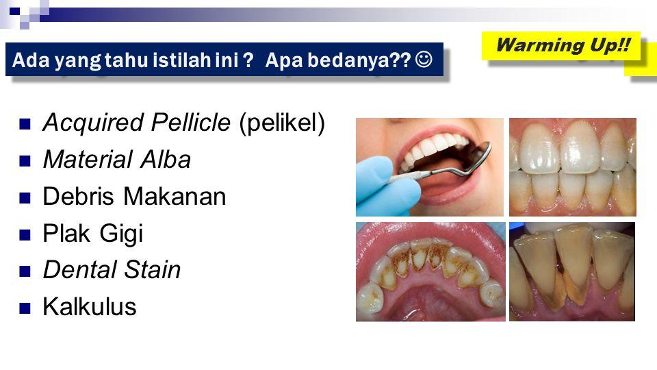 Acquired Pellicle (pelikel) Material Alba Debris Makanan Plak Gigi