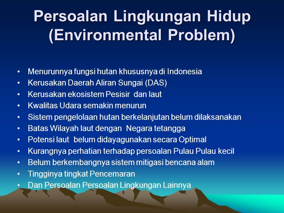 Persoalan Lingkungan Hidup (Environmental Problem)
