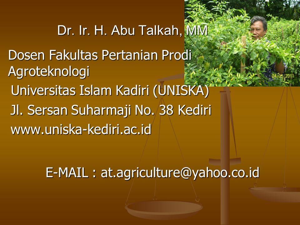 Dosen Fakultas Pertanian Prodi Agroteknologi