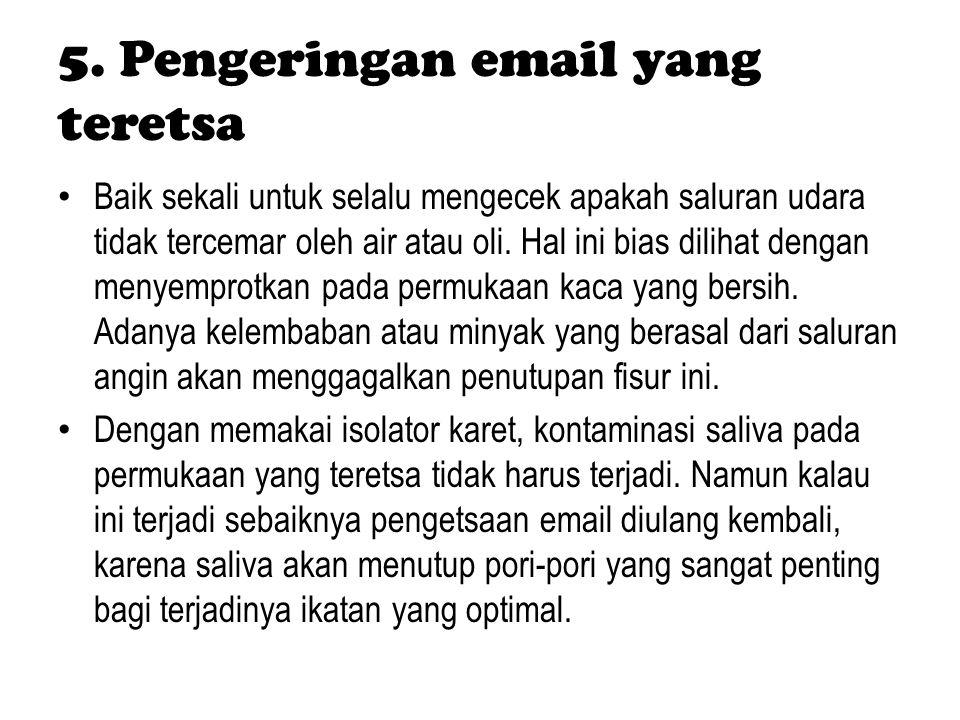 5. Pengeringan email yang teretsa