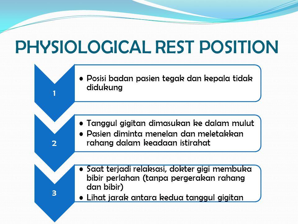 PHYSIOLOGICAL REST POSITION