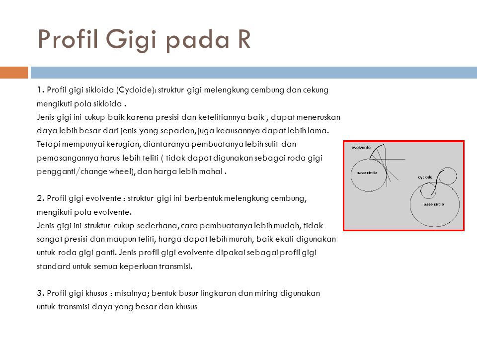 Profil Gigi pada R