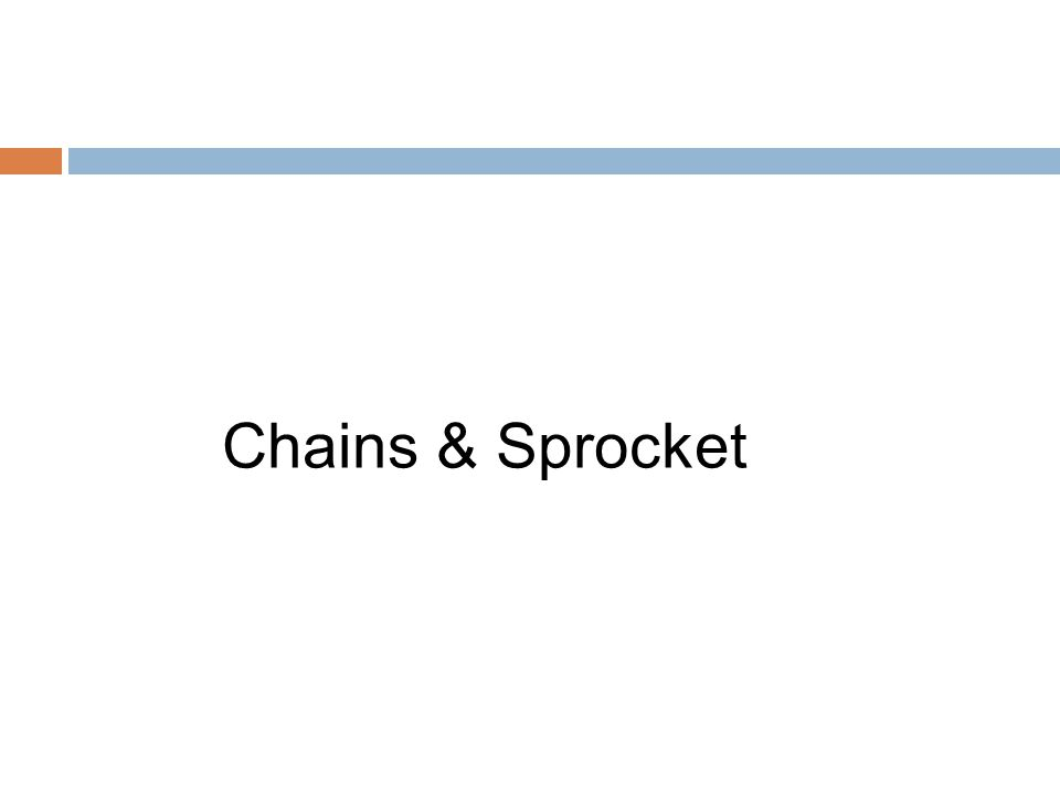 Chains & Sprocket