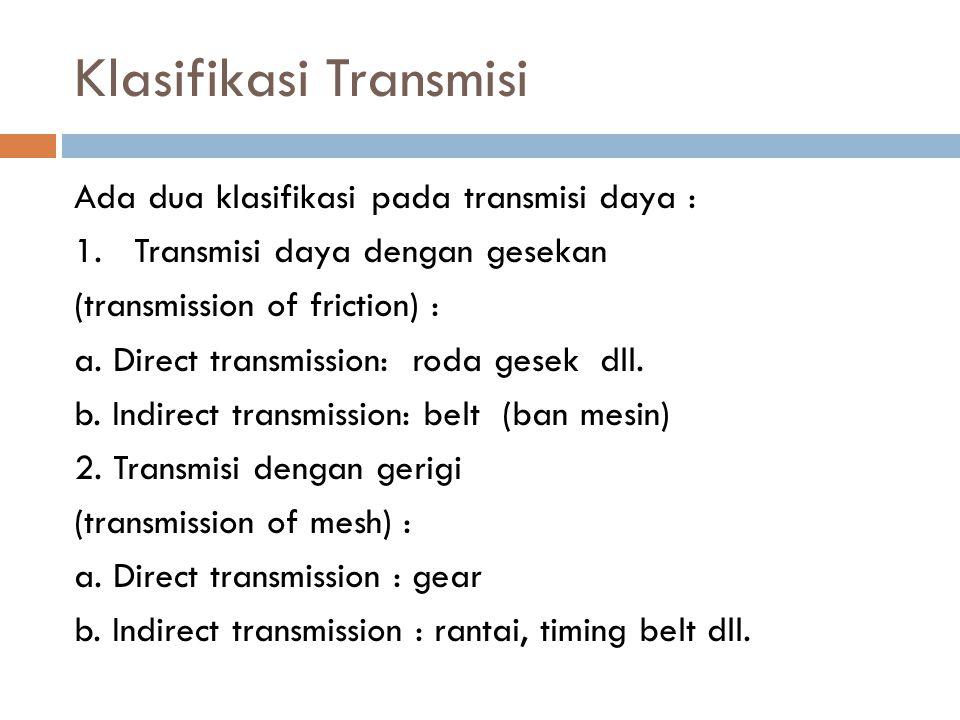 Klasifikasi Transmisi