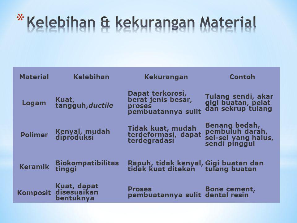 Kelebihan & kekurangan Material