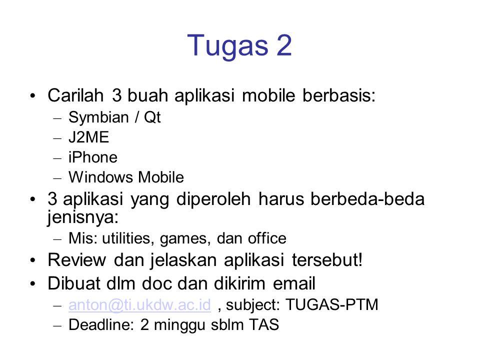 Tugas 2 Carilah 3 buah aplikasi mobile berbasis: