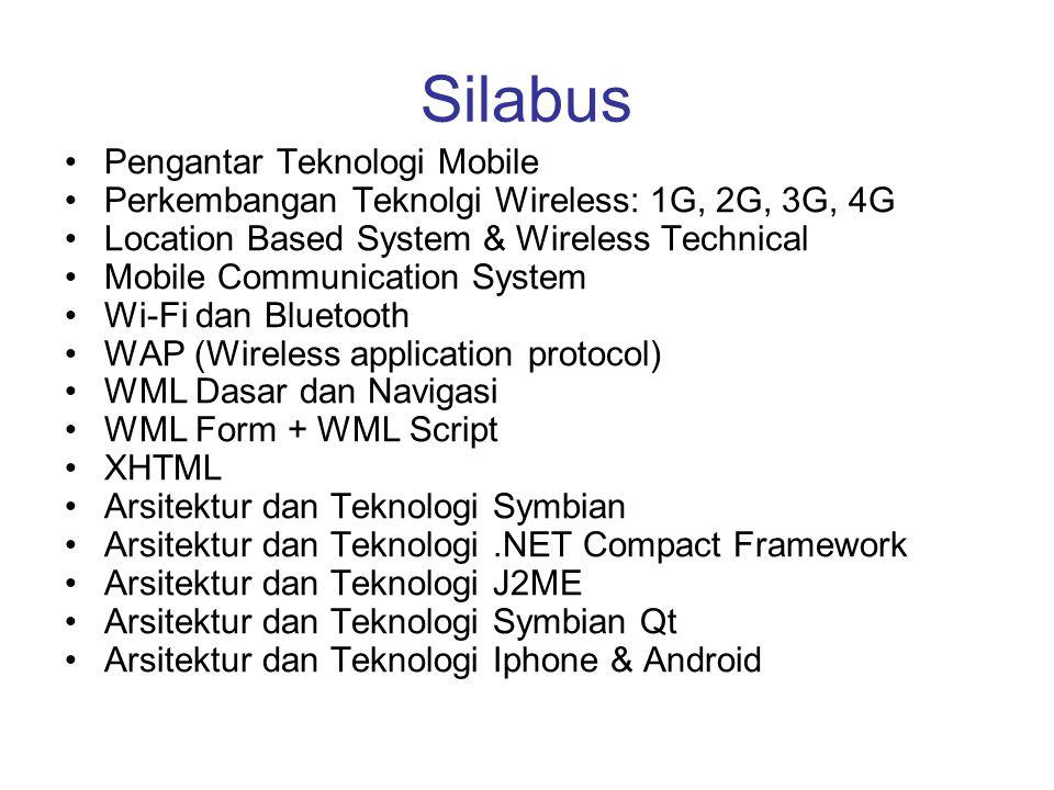 Silabus Pengantar Teknologi Mobile