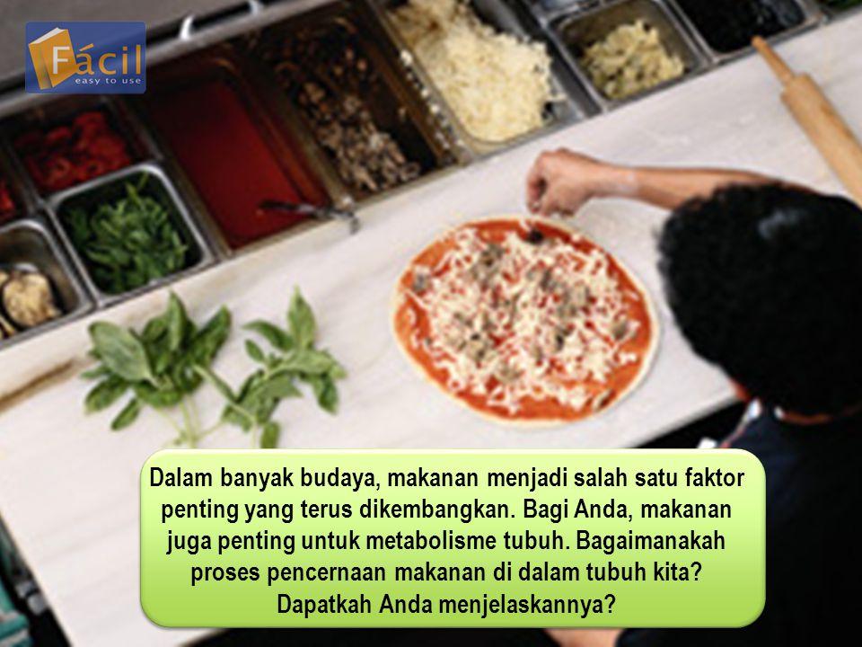 Dalam banyak budaya, makanan menjadi salah satu faktor penting yang terus dikembangkan.