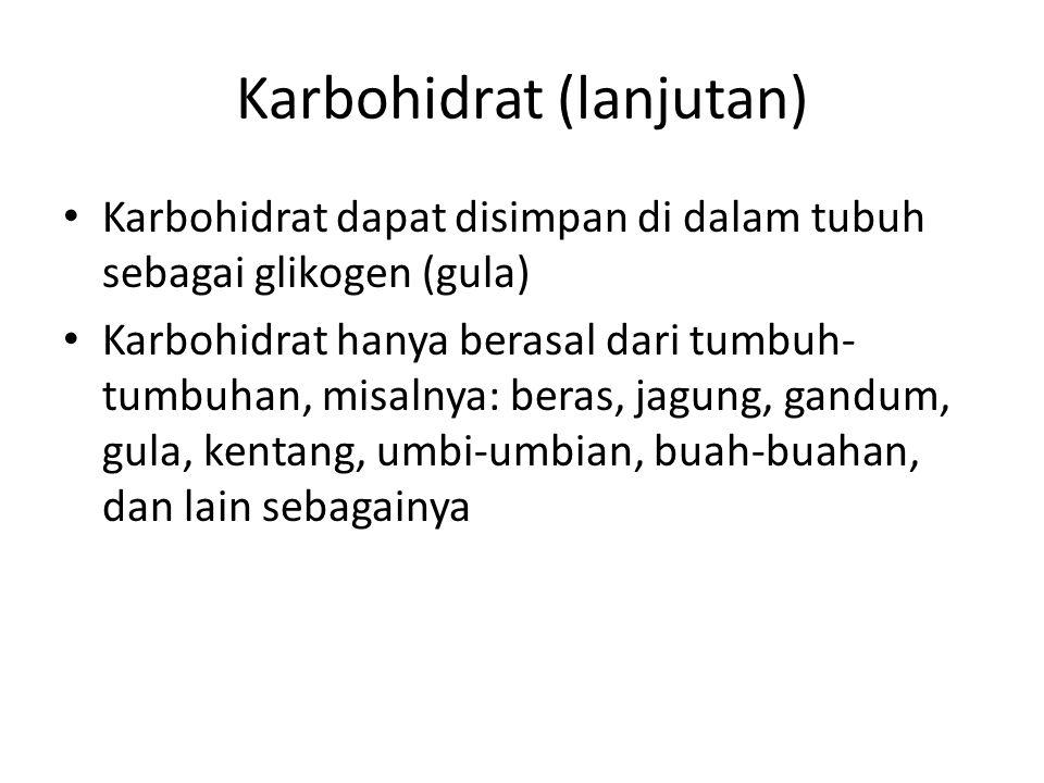 Karbohidrat (lanjutan)