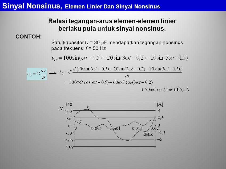 Sinyal Nonsinus, Elemen Linier Dan Sinyal Nonsinus