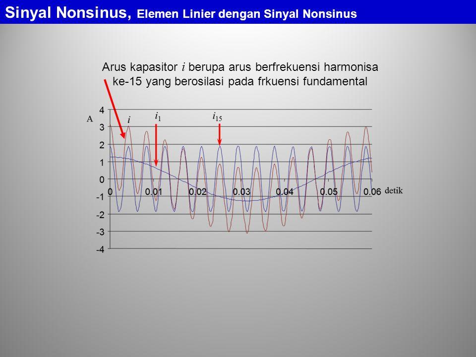 Sinyal Nonsinus, Elemen Linier dengan Sinyal Nonsinus