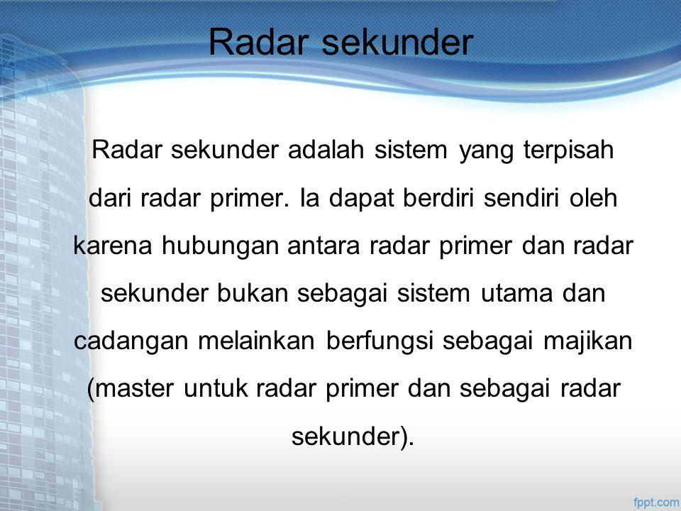 Radar sekunder