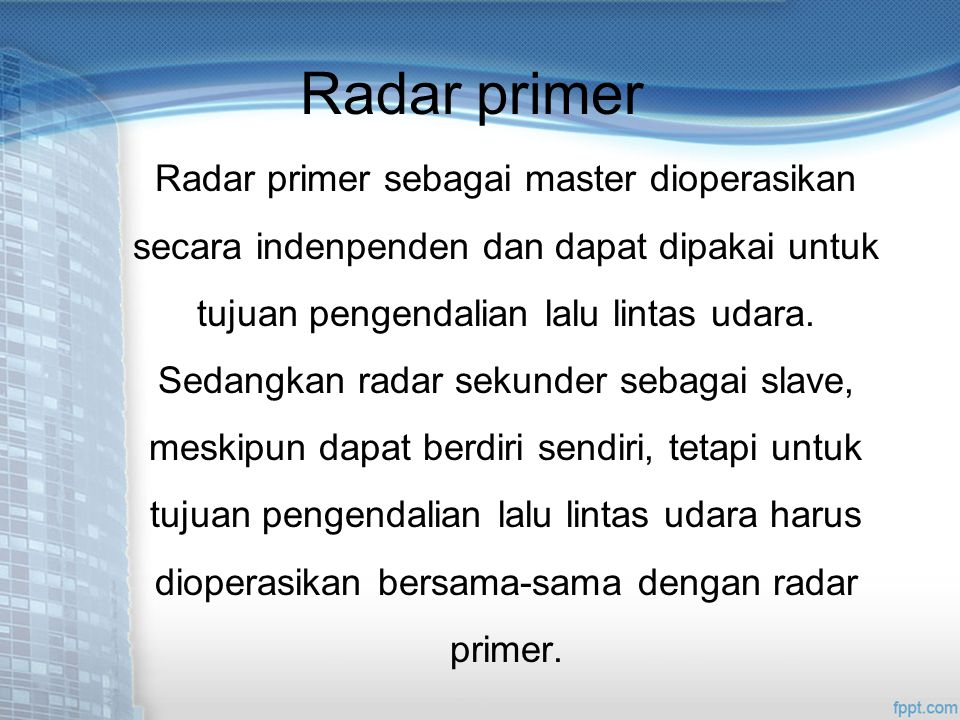 Radar primer