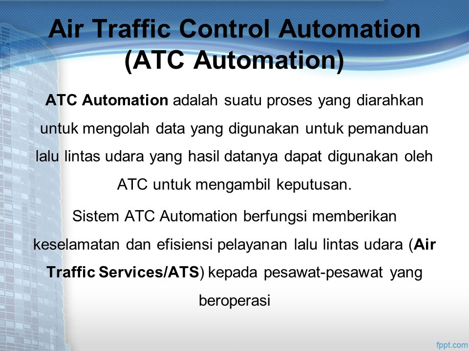 Air Traffic Control Automation (ATC Automation)