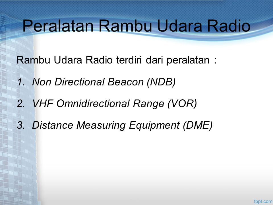 Peralatan Rambu Udara Radio