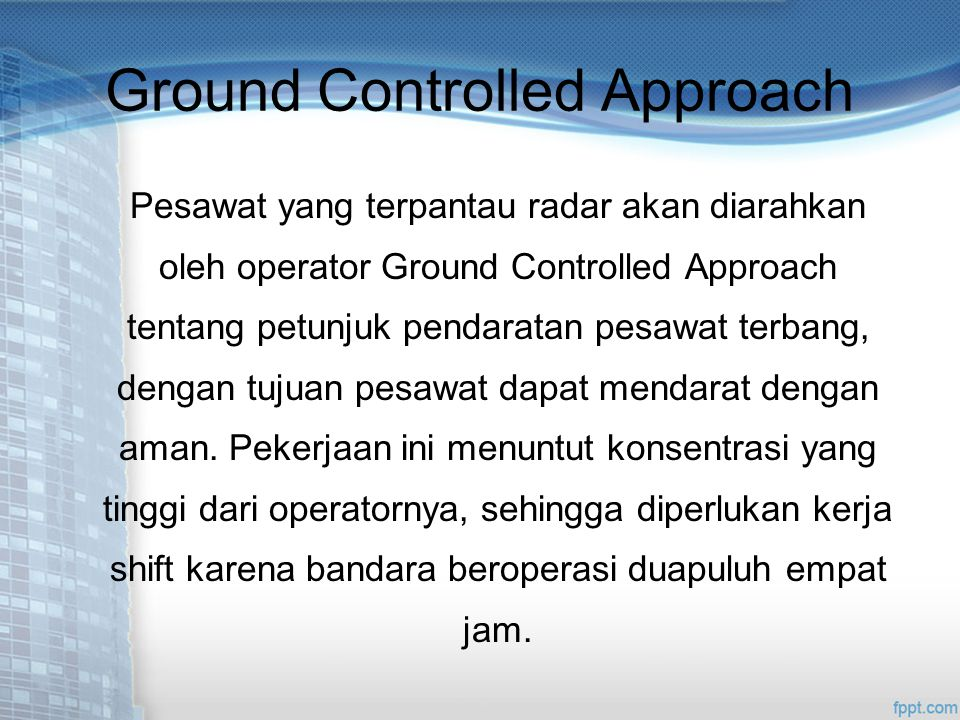Ground Controlled Approach