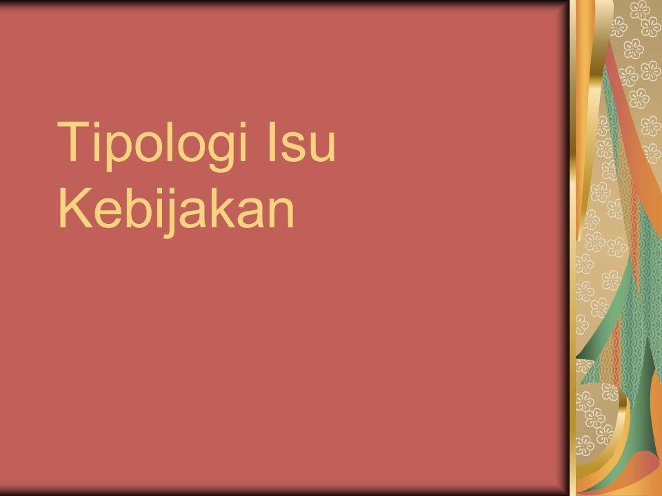 Tipologi Isu Kebijakan