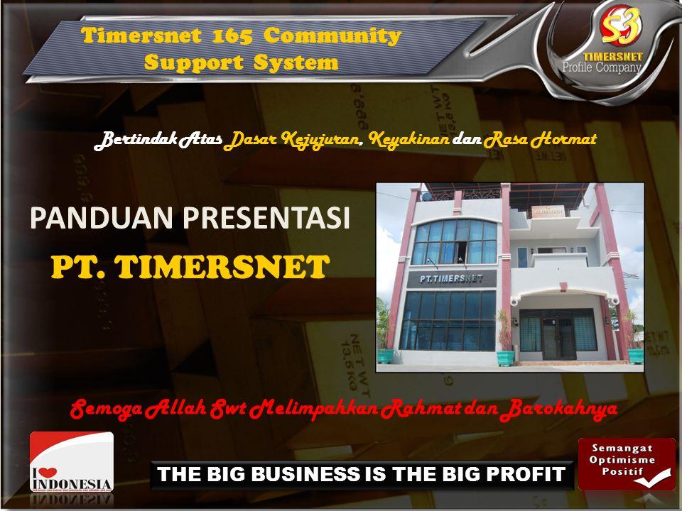 PANDUAN PRESENTASI PT. TIMERSNET Timersnet 165 Community