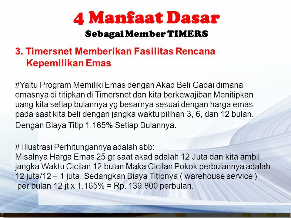4 Manfaat Dasar Sebagai Member TIMERS