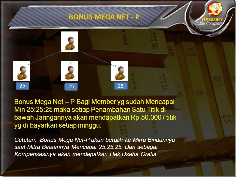 BONUS MEGA NET - P 25.